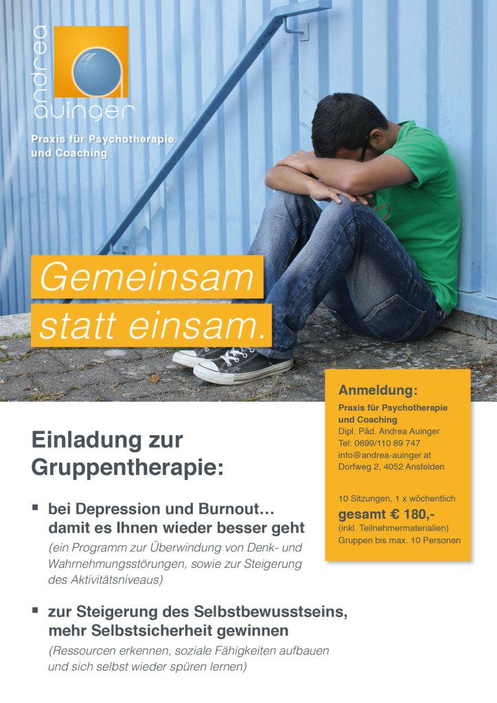 Plakat - Gruppentherapie Auinger Andrea